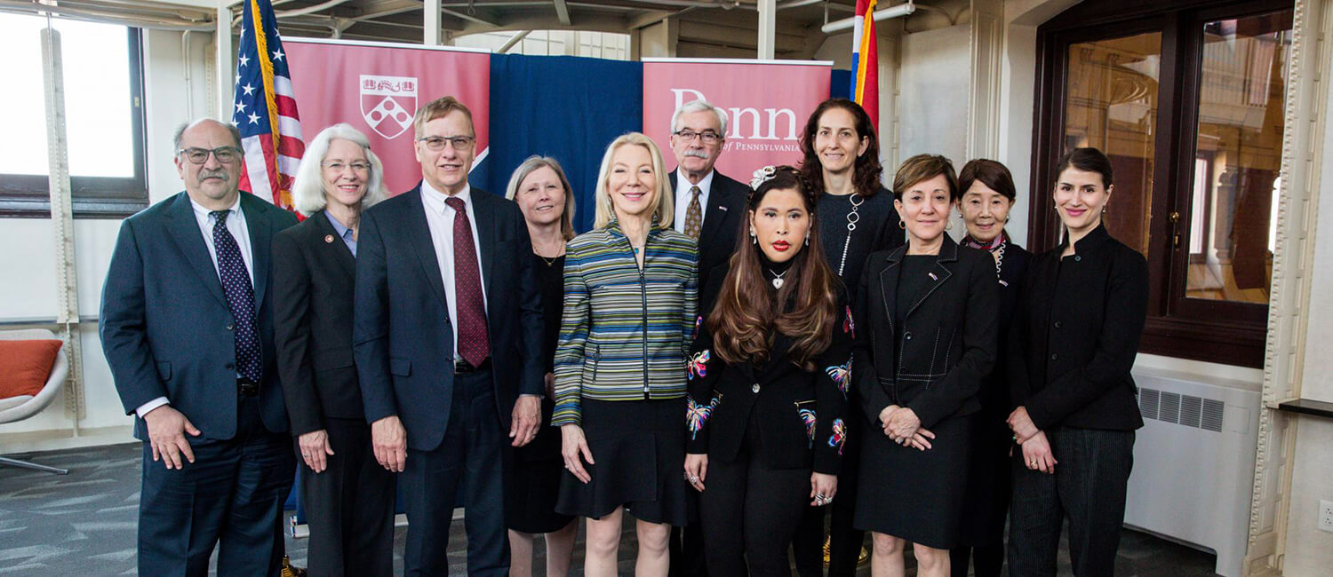 Thai-princess-formal-group-1The princess met with President Amy Gutmann and leaders of Penn's health schools to discuss future collaboration aimed at advancing health and science.