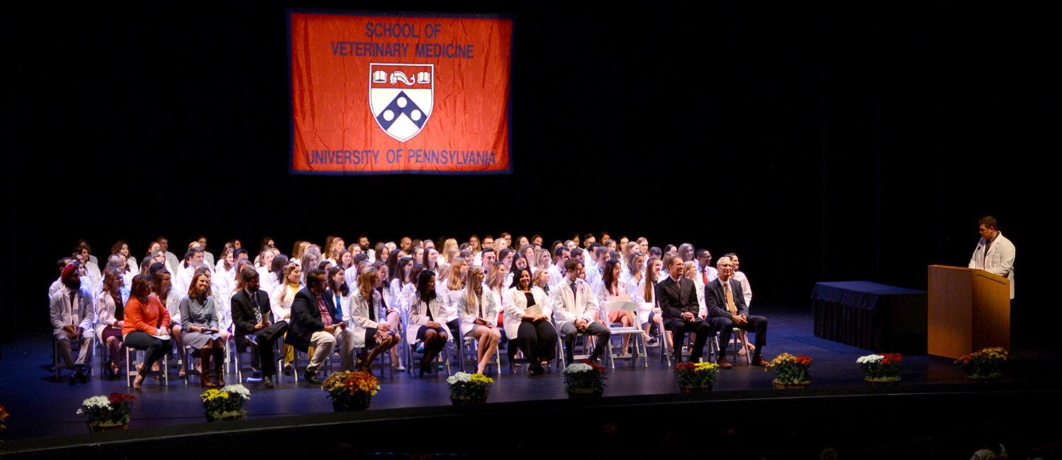 White-coat-ceremony at Penn Vet