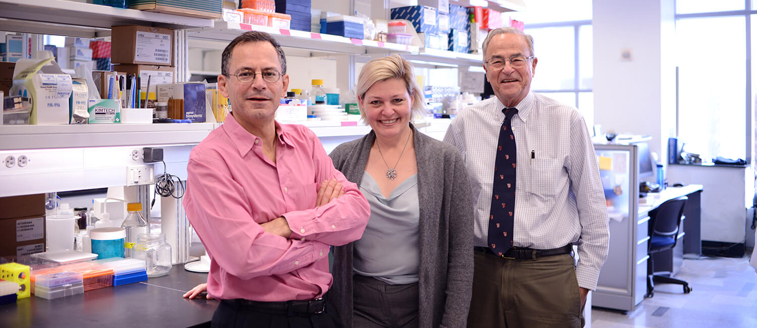 Drs. William Beltran, Susan Volk, and Gustavo Aguirre were recognized for research on suppressing breast cancer recurrence and therapies for the treatment of inherited retinal disorders.