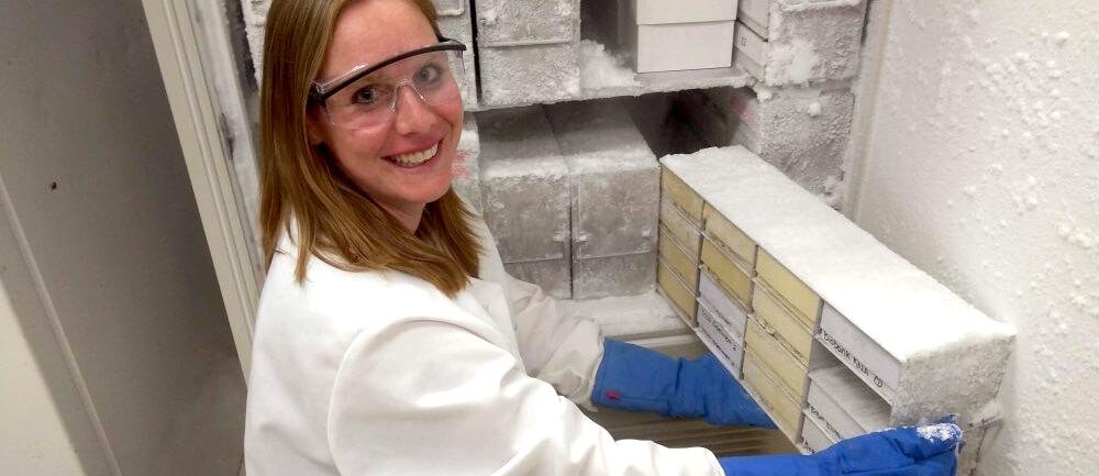 Mary Robinson, director of Penn Vet's Equine Pharmacology Laboratory