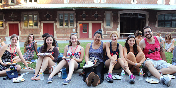 The new class of students enjoys the PVMA welcome BBQ
