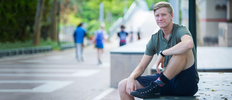 James Ferrara, a third-year student in Penn's School of Veterinary Medicine.