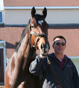 Barbaro and Dr. Dean Richardson, New Bolton Center