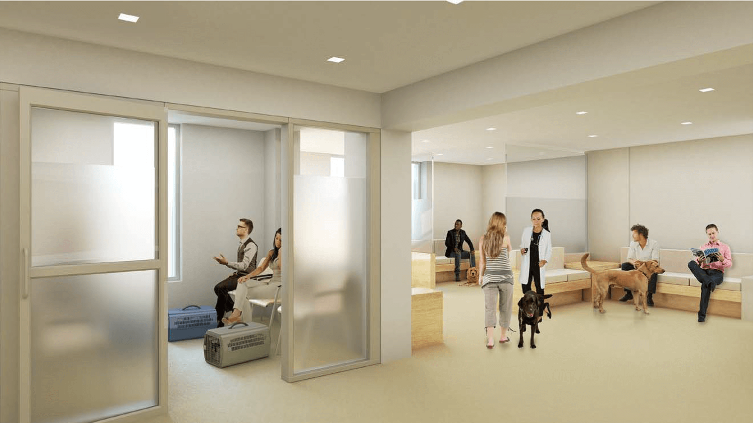 Future Reception Area for Penn Vet Emergency Service