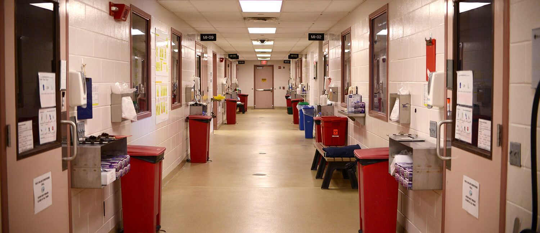 Infectious Wing Hallway, New Bolton Center Moran Critical Care
