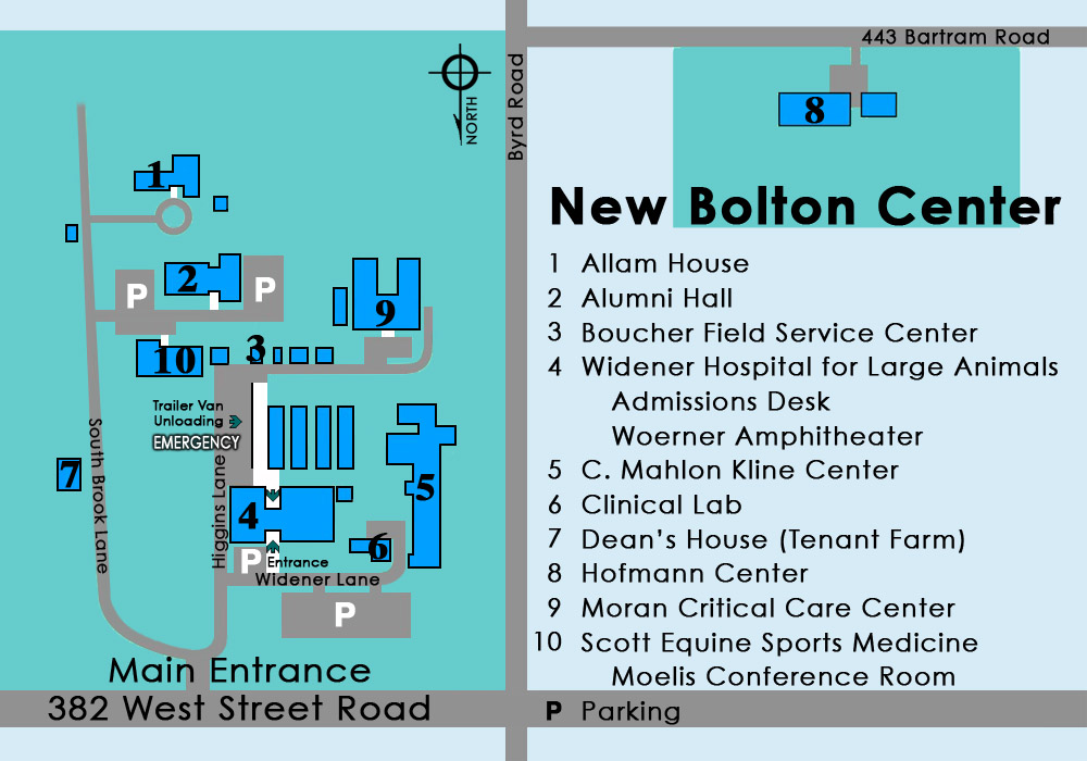 New Bolton Center Map