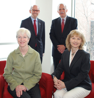 (L to R) Dean Joan Hendricks, Mr. Alan Kalter, Dr. Charles Franz and Dr. Anita Migday