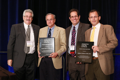 L-R  Dr. Stephen Rose, FFB Chief Research Officer, Dr. Gustavo Aguirre, Mr. David Brint, of the FFB Board of Directors, Dr. William Beltran.