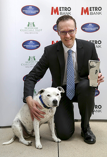 International Award Winner Prof Oliver Garden at the International Canine Health Awards 2017 in London. Photo credit- The Kennel Club
