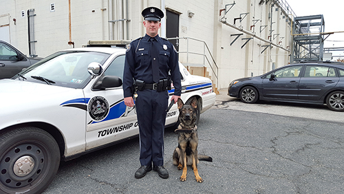 Officer Jeffrey Seamans of the Lower Merion Police Department, with Rookie