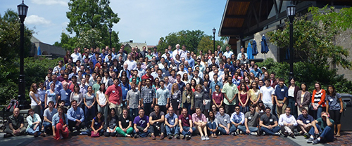 Penn's MD-PhD and VMD-PhD students posed for a group photo at the 2015 Combined Degree Retreat at Villanova University. The event included student talks, poster presentations, and a keynote speaker.