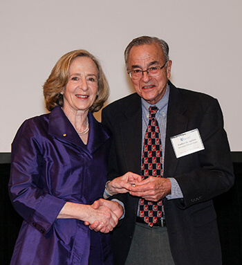 Dr. Susan Hockfield, AAAS President (left) with Dr. Gustavo Aguirre