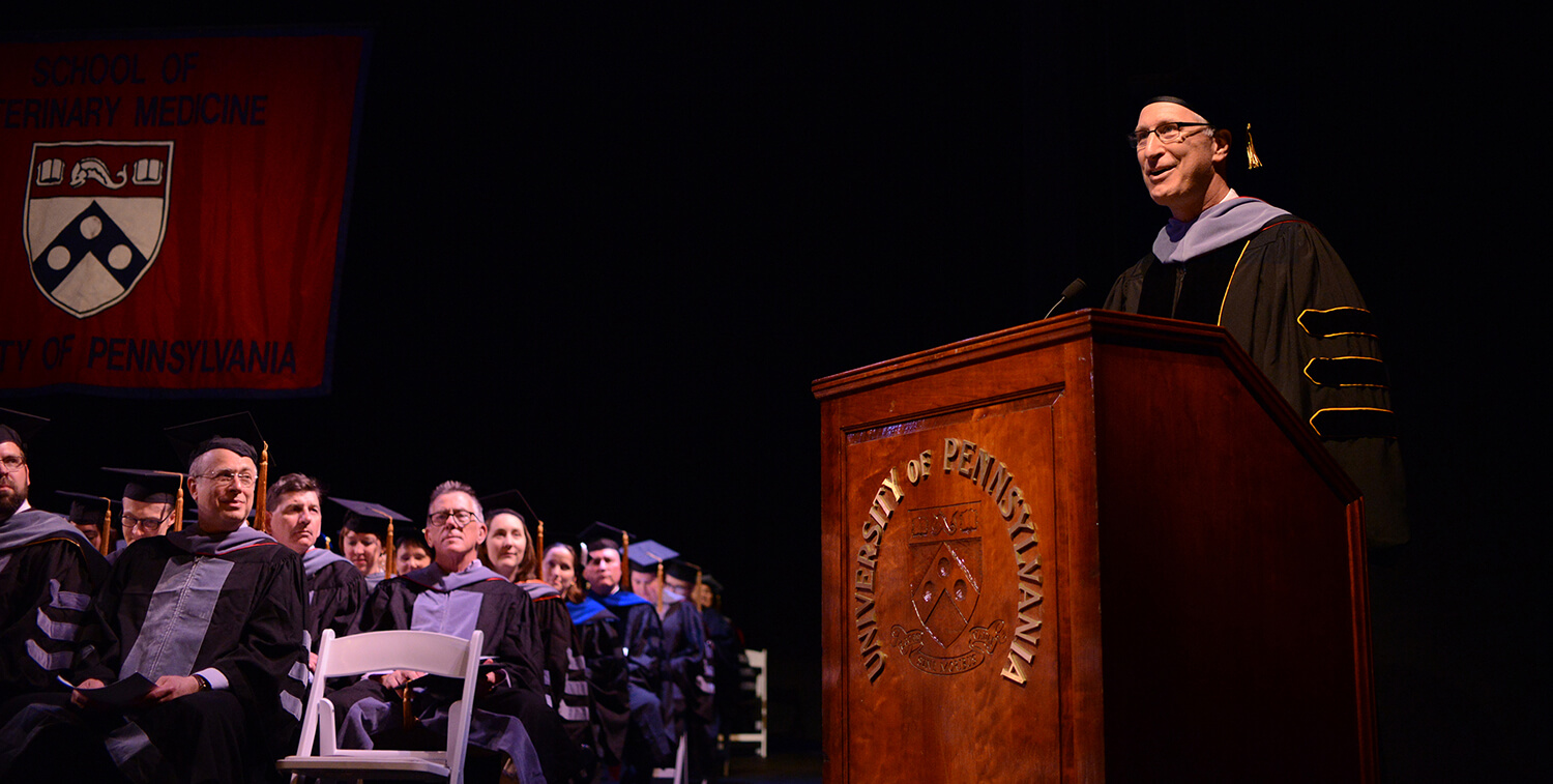 Dean Andrew Hoffman speaks at Commencement