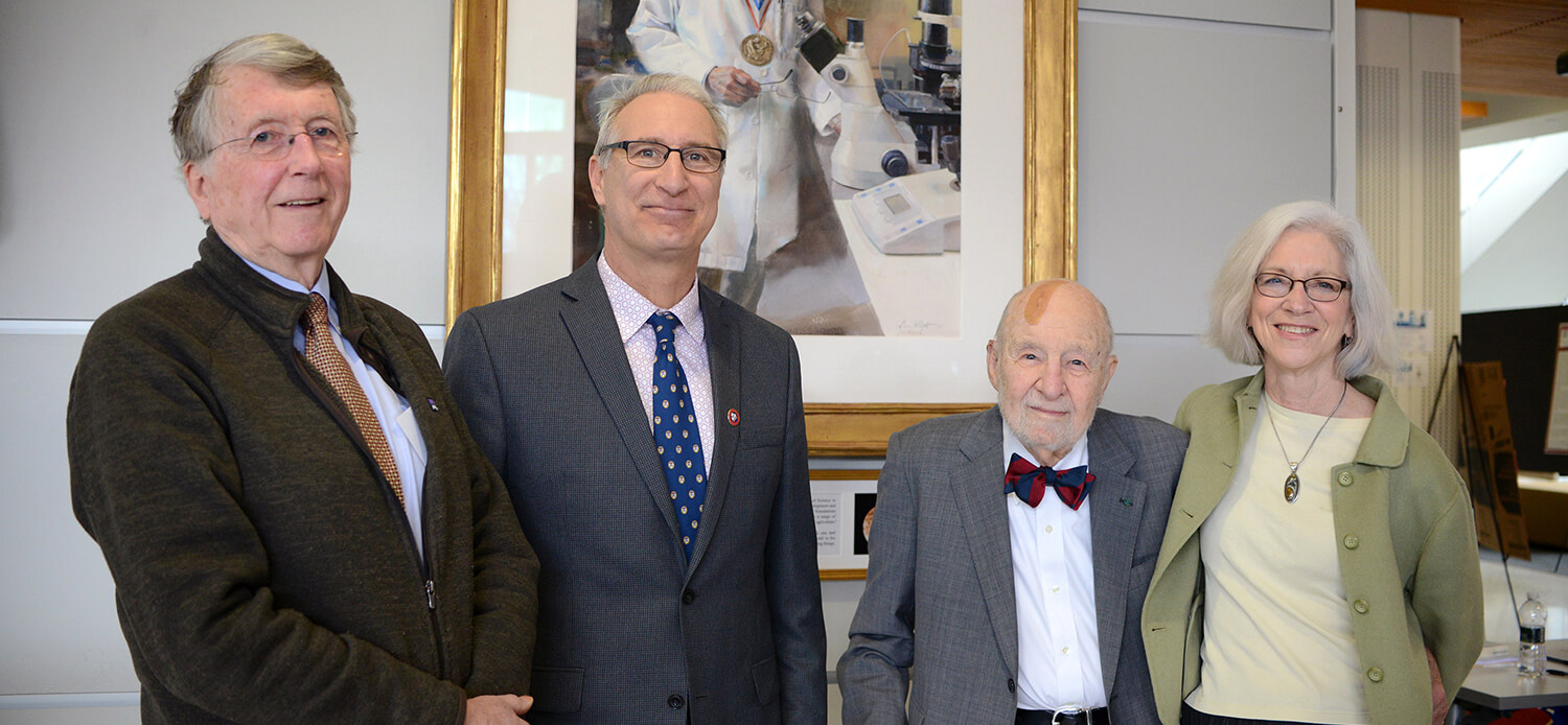 Penn Vet deans: Alan Kelly, Andrew Hoffman, Robert Marshak, and Joan Hendricks.
