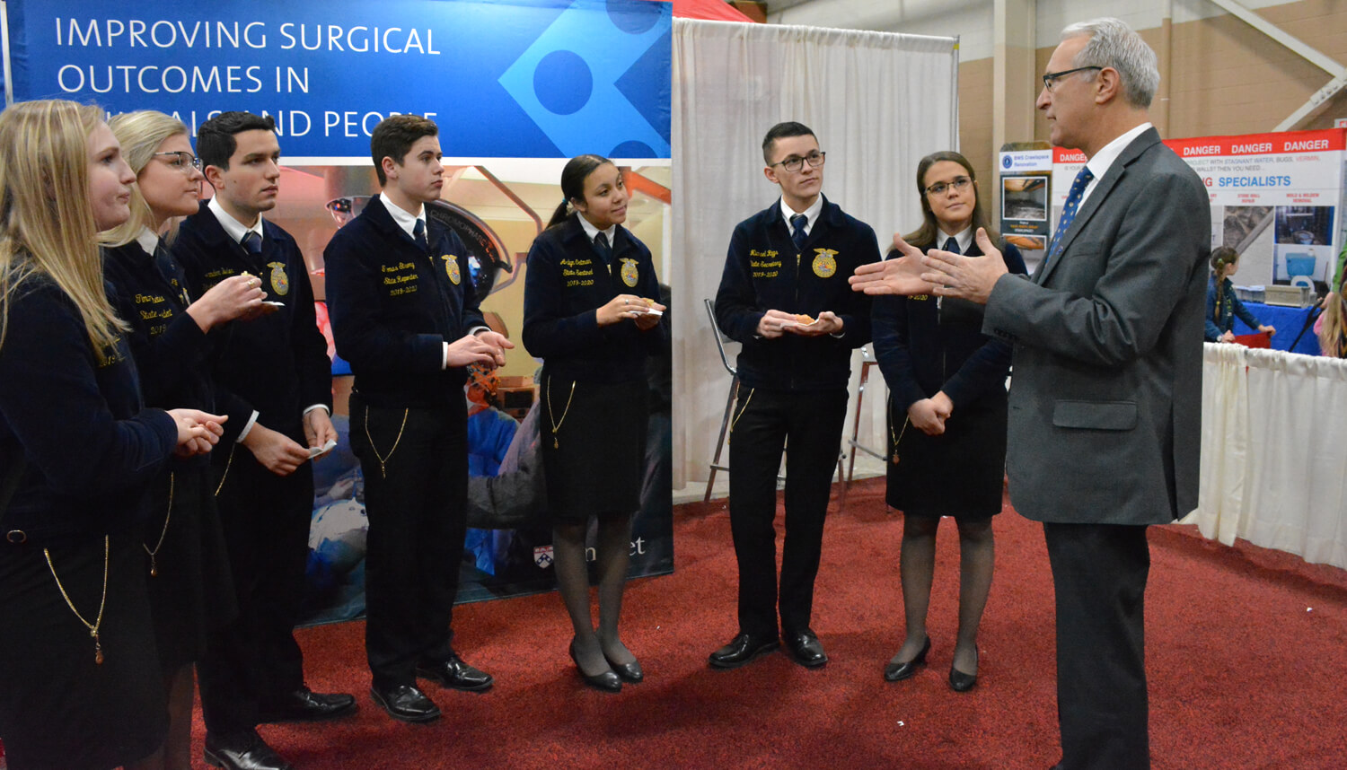 Dean Hoffman met with the State Officer team from the Pennsylvania FFA organization.