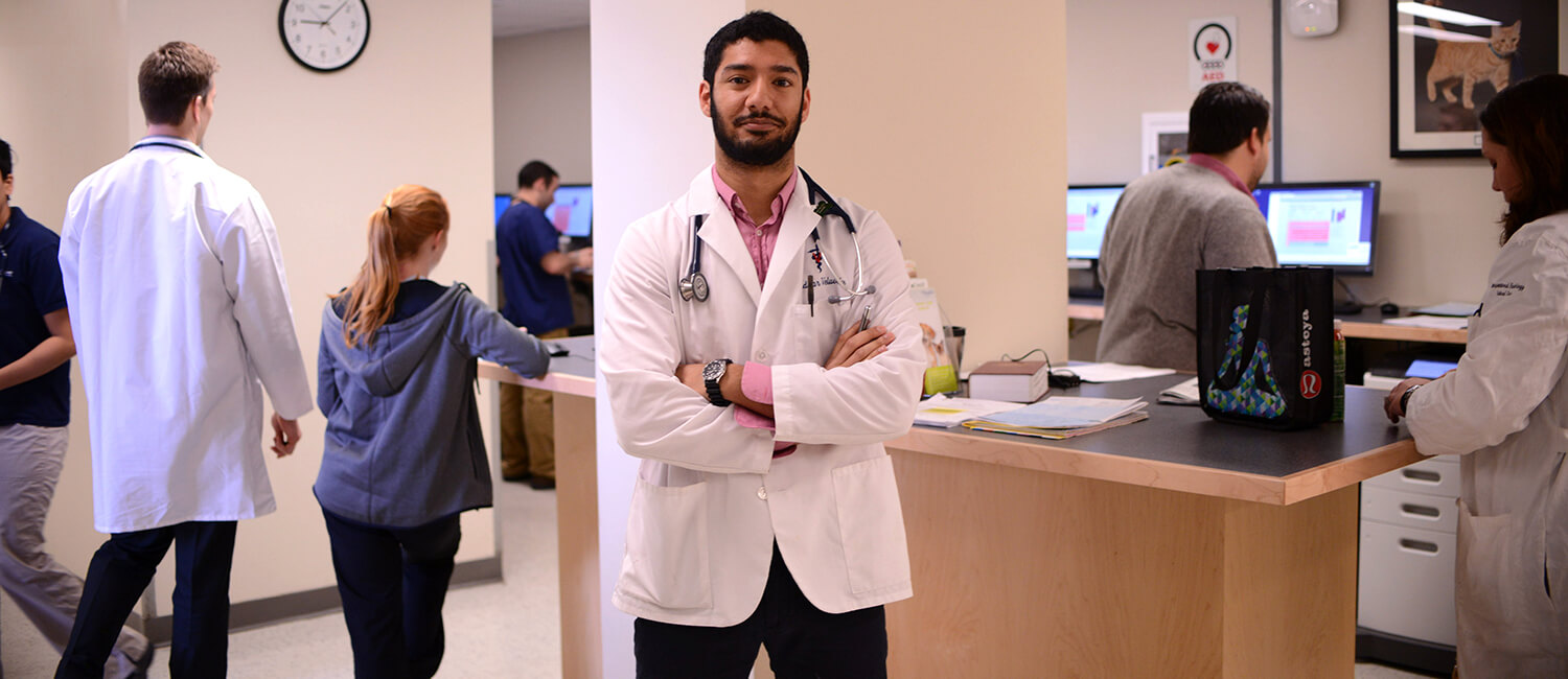 Fourth year student Sridhar Veluvolu, V'18, entered Penn Vet wanting to be a general practitioner. He's leaving the School with a different plan.