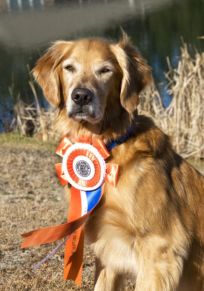 Lewis proudly wears his Master Nationals ribbon.