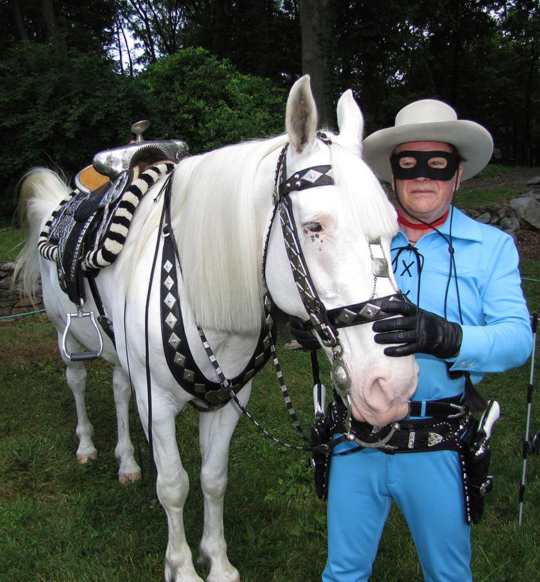 Sliver and Garry Cherricks in costume