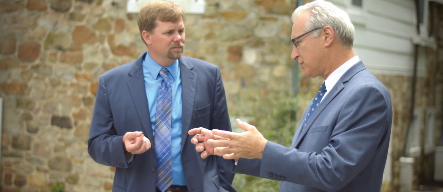 Penn Vet Dean Andrew Hoffman and Pennsylvania State Veterinarian Dr. Kevin Brightbill engage in a wide-ranging discussion about agriculture.