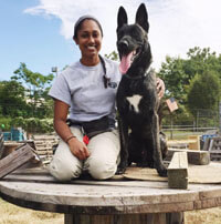 Tessa and Dylan, Working Dog Center
