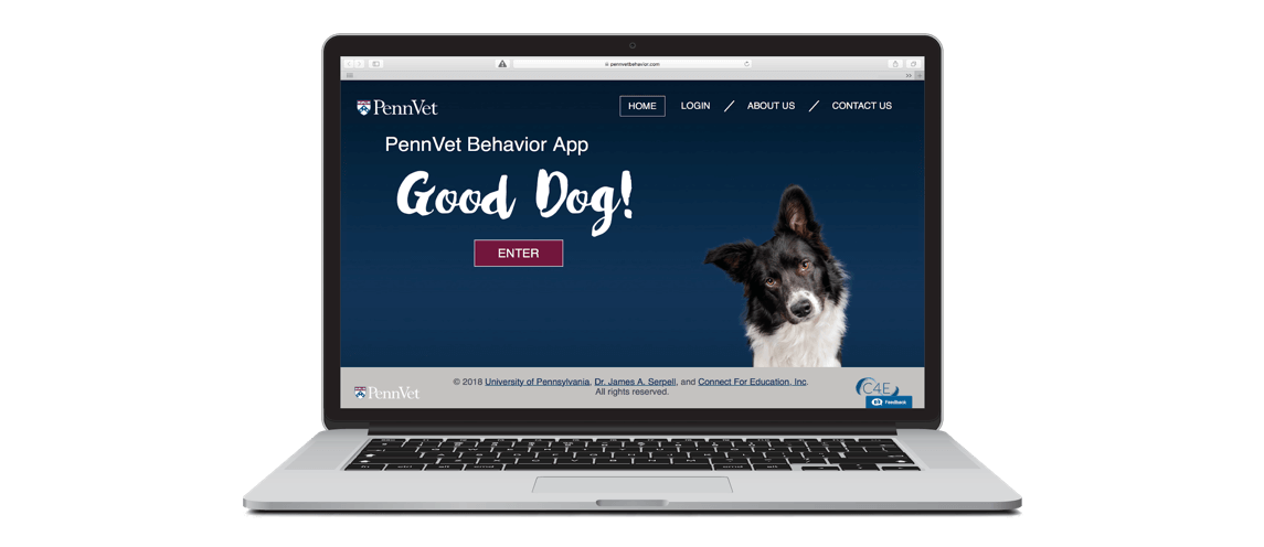 Telemed.behavior.laptop copyThe user-friendly web portal provides high-quality educational resources for pet owners, as well as ways to share videos and medical records with Penn Vet's behavioral specialists. (Image courtesy of Connect for Education)