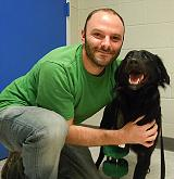 Brody with his owner, Stuart Shapiro.